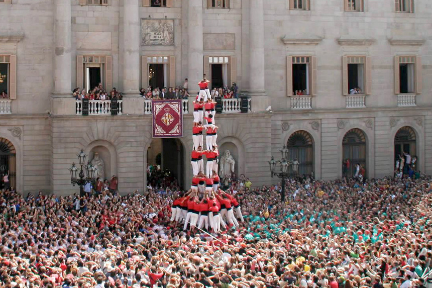 Castellers in Barcelona (Spain)