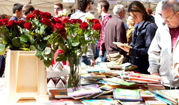 Books and roses